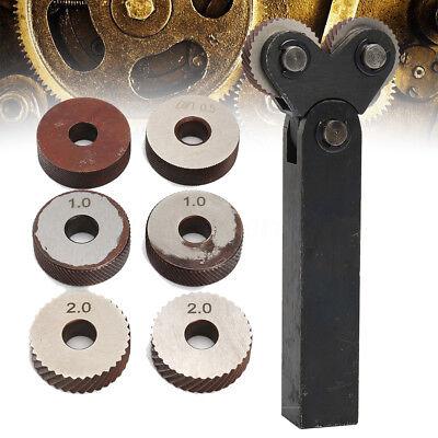 7pcs Knurling Knurler Tool Diagonal Wheel Linear Knurl Set 0.5mm 1mm 2mm Pitch