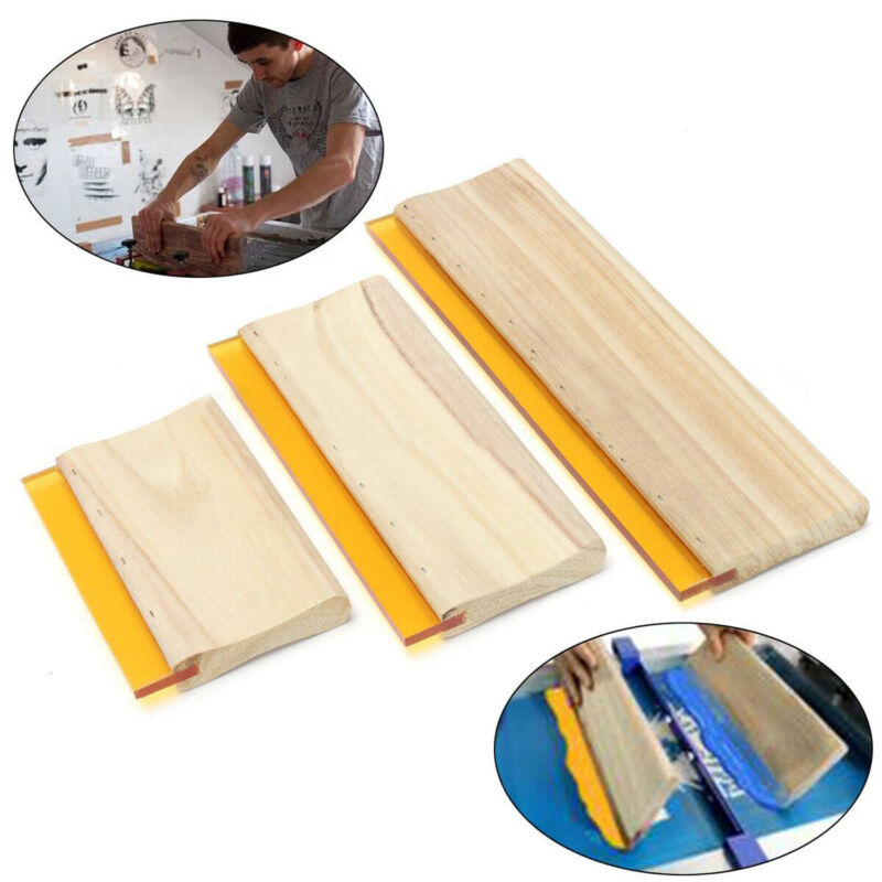 """3 pcs 6.3"""" 9.5"""" 13"""" Silk Screen Printing Squeegee Ink Scaper"""