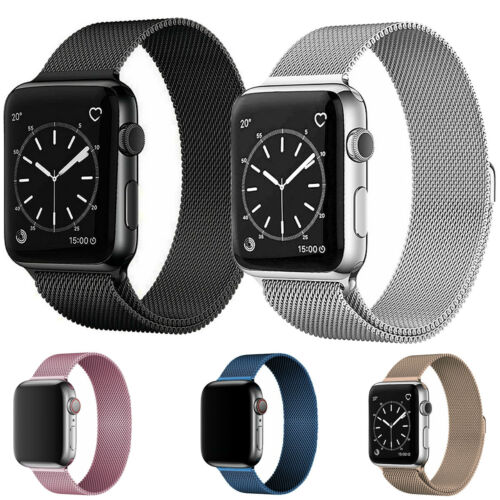 Milanese Loop Band iwatch Strap For Apple Watch Series 7 6 5 4 3 2 38 42 40 44mm