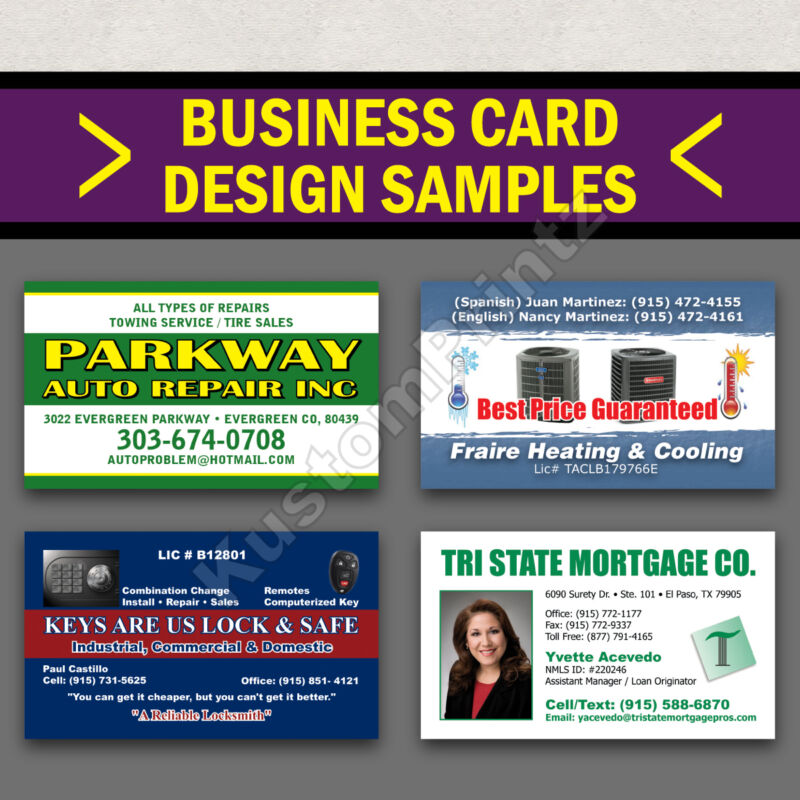 1000 FULL COLOR BUSINESS CARDS W/ YOUR ARTWORK READY TO PRINT - 2 SIDED GLOSSY