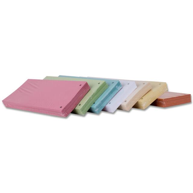 Trennstreifen Aktenfahnen Karton Trennblätter 10,5x24cm 7 Farben 25 o. 100 Stück