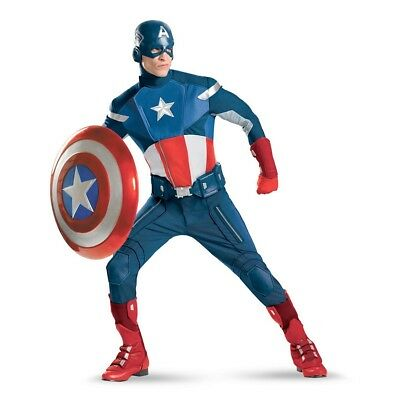CAPTAIN AMERICA Avengers Theatrical Quality Adult Costume | Disguise - Captain America Costume Adult