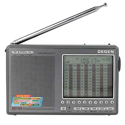 Degen DE1103 DSP Radio Receiver FM / MW AM / SW / LW / SSB (New English Manual)