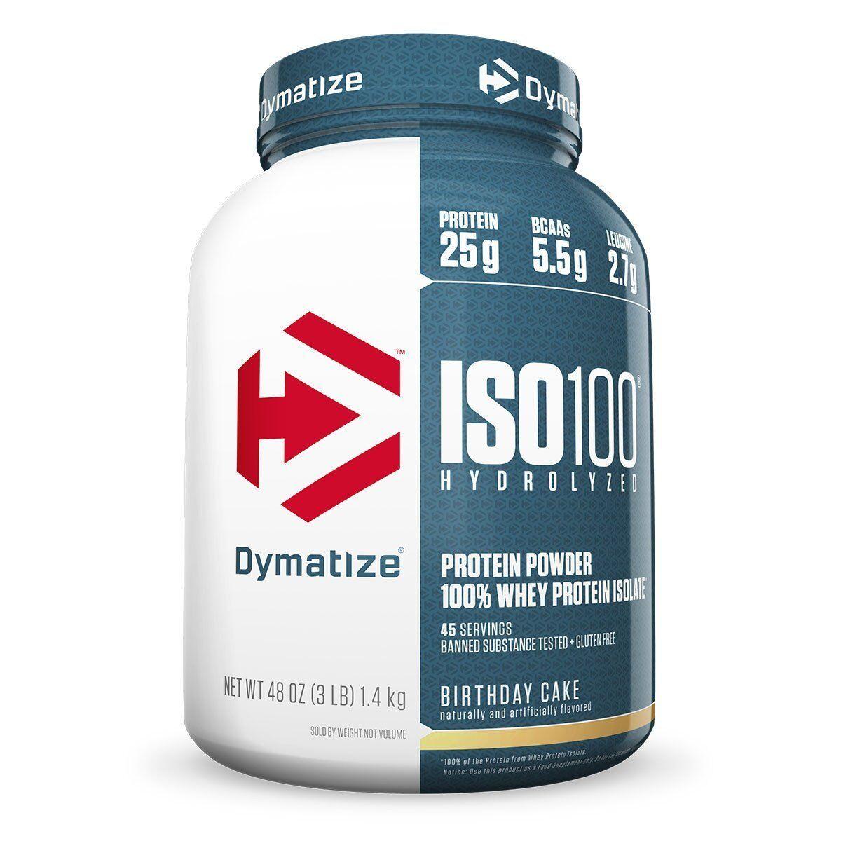 Dymatize Nutrition Iso 100 Birthday Cake 3 Lbs Ebay