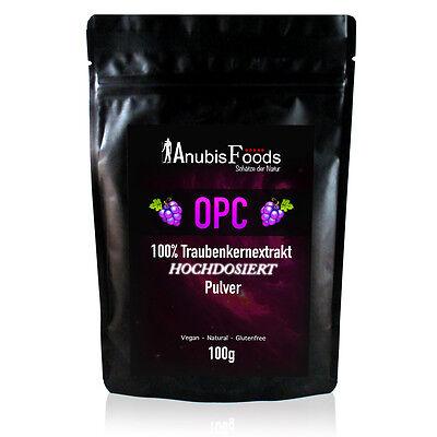 OPC Pulver Traubenkernextrakt Traubenkern Extrakt ★ Premium Qualität - 100g ★