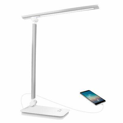 Lampe de Bureau LED USB rechargeable,lampe design rotative 5 mode de couleur
