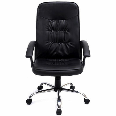 Black High Back Executive Office Pu Leather Task Ergonomic Chair Computer Desk