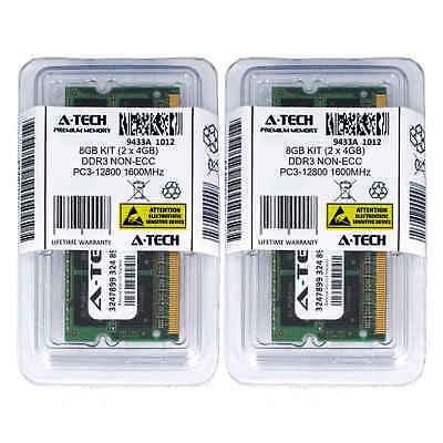 Atech 8GB Kit Lot 2x 4GB SODIMM DDR3 Laptop 12800 1600MHz 1600 204pin Ram Memory