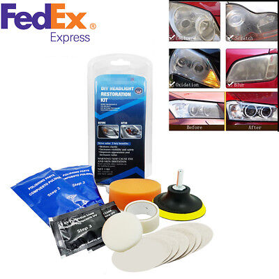 Universal Car Auto SUV Headlight Lens Restoration Cleaning Polishing Tool Kit