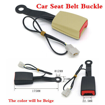Car Safety Seat Belt Buckle Connector Plug Clip Kit W/Warning Cable 7/8