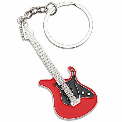Keepdrum Llavero Guitarra Eléctrica de Metal Rojo