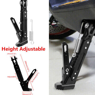 Universal Motorcycle Adjustable Foot Kickstand Aluminum Alloy Parking Side Stand