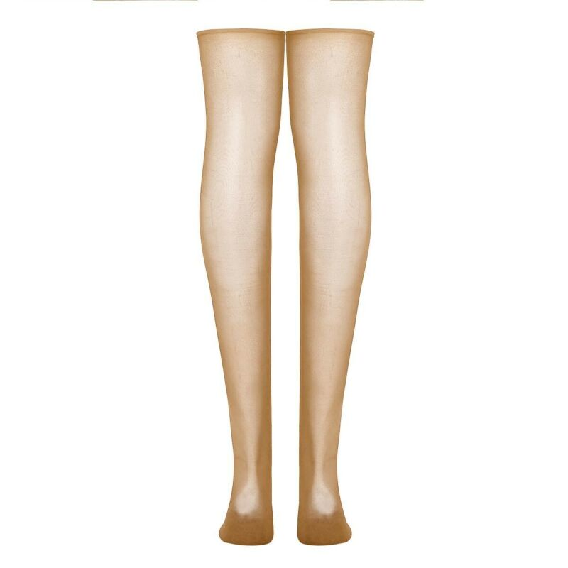 Women/'s Oil Shiny Glossy High Stockings Lace Costume Stay Up Thigh Highs Hosiery