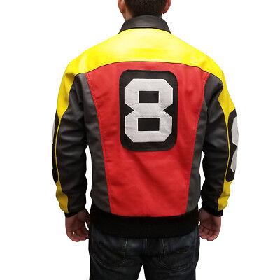 David Puddy 8 Ball Bomber Jacket Seinfeld Costume Coat TV Show 90s Rap Rapper (Rapper Costumes)