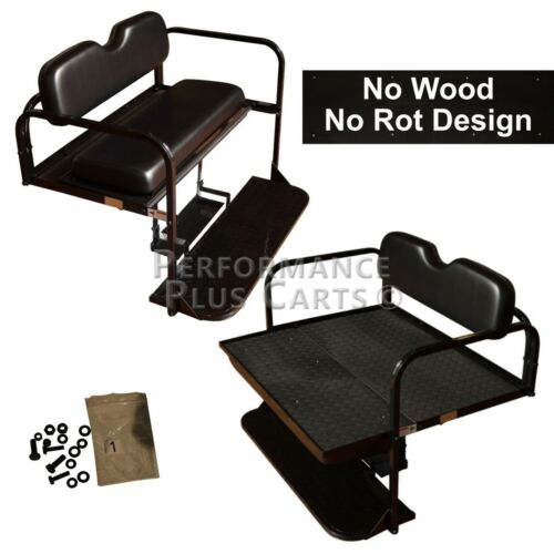 Club Car DS Golf Cart Flip Folding Rear Back Seat Kit for