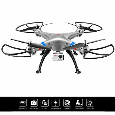 Syma X8HG 2.4G 4CH 6-Axis Gyro RC Quadcopter Drone HD Camera RTF Christmas Gift