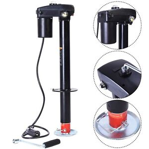 electric trailer jack 3500 lbs electric power tongue jack rv boat jet ski a frame trailer camper 12v