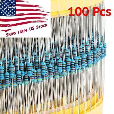 1/4W 1% Metal Film Resistor 100 Piece Packs 3.3 10 51 220 330 470 10K Ohm Values