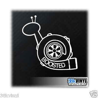 Boosted Snail Funny Car/Window/Bumper Turbo Boost Drift JDM Dub Decal Sticker