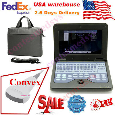 Portable Laptop Machine Digital Ultrasound Scanner 3.5m Convex Probe Cms600p2