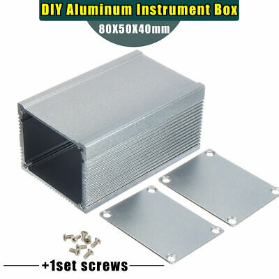 Aluminum Pcb Instrument Enclosure Case Electronic Project Box Diy 805040mm