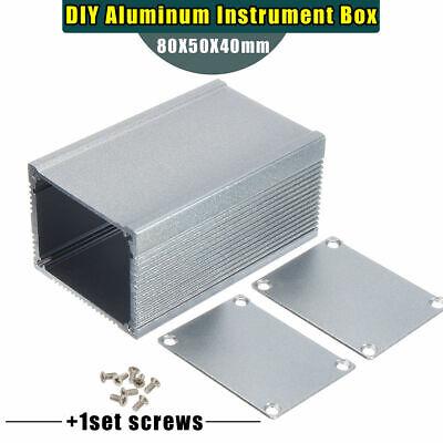 Aluminum Pcb Instrument Enclosure Case Electronic Project Box Diy 805040mm