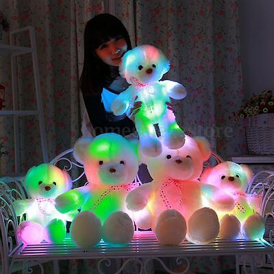 50CM LED Flash Light Colorful Luminous Teddy Bear Plush Doll Children Toy Gifts