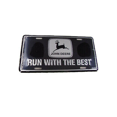John Deere Black Run with the Best License Plate Farm Tag tractor (The Best License Plates)