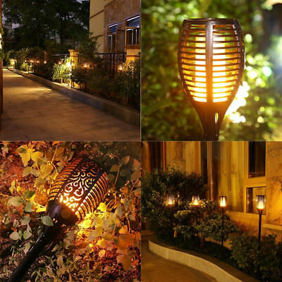 Solar Torch Lights,Balight Dancing Flame Lighting 96 LED Flickering Tiki Torches](Led Tiki Torch)