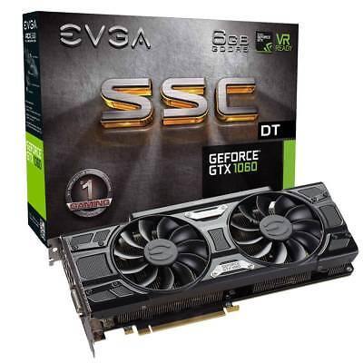 EVGA GeForce GTX 1060 SSC DT GAMING, 6GB GDDR5, ACX 3.0 & LED, 06G-P4-6265-KR