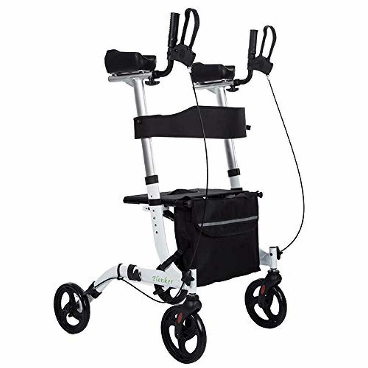 Upright Walker Stand Up Folding Rollator Walker With Paded A