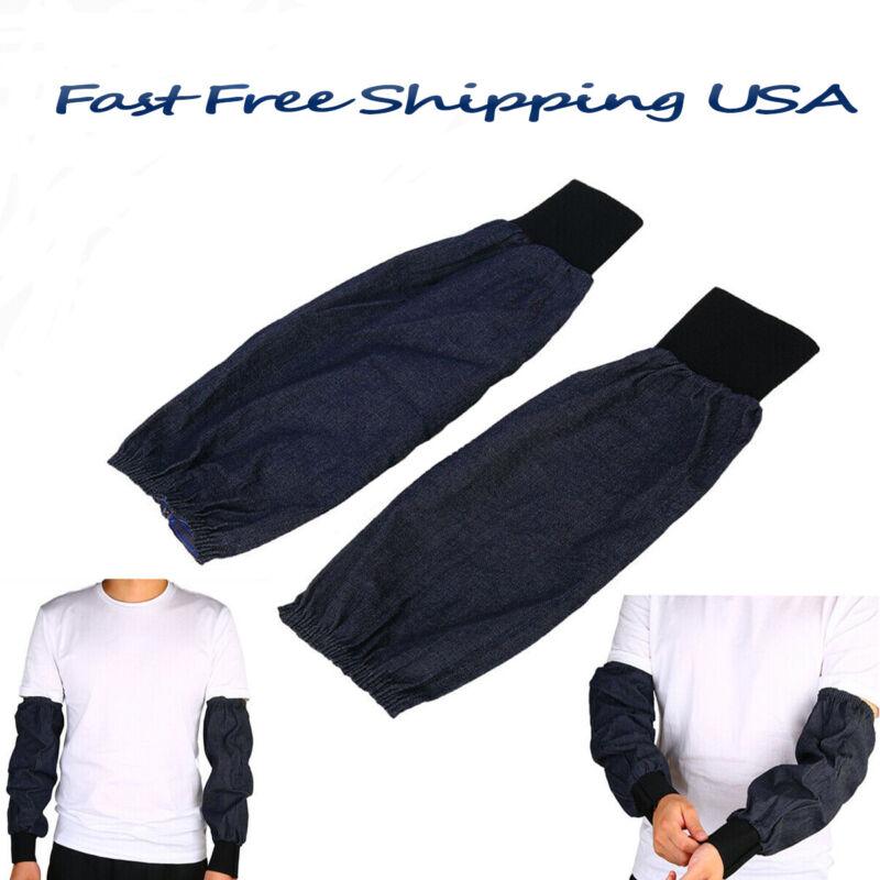 Welding Arm Sleeves Denim Protection Sleeves Wear-resistant Dustproof Daily Use