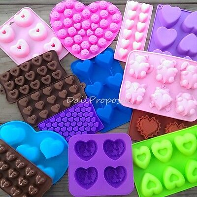 Valentines Heart Silicone Mold Chocolate Butter Candle Candy Ice Soap Jelly Usa
