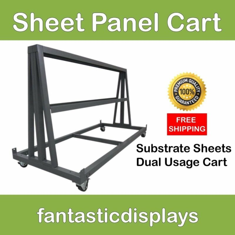 Industrial Panel Sheet Cart for Substrate, Plywood, Plexiglass, Acrylic Sheets