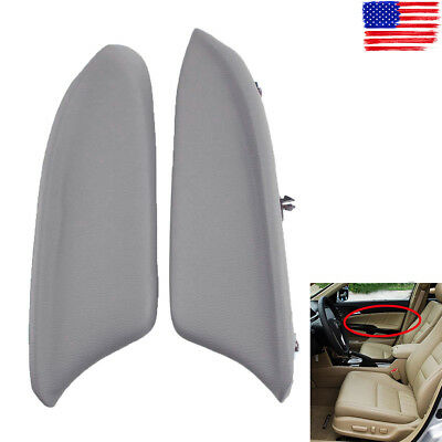 Gray Front Left & Right Door Panel Armrest Cover for Honda Accord 08-12 Sedan ()
