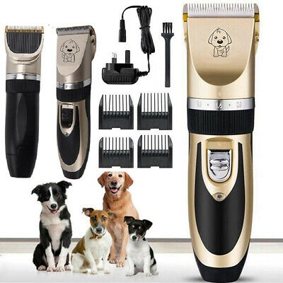 Pet Pro Dog Clippers Kit Low Noise Cordless Dog Cat Grooming Trimming Best