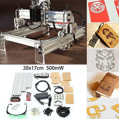 500mw Desktop Laser Cuttingengraving Machine Diy Logo Picture Marking Printer