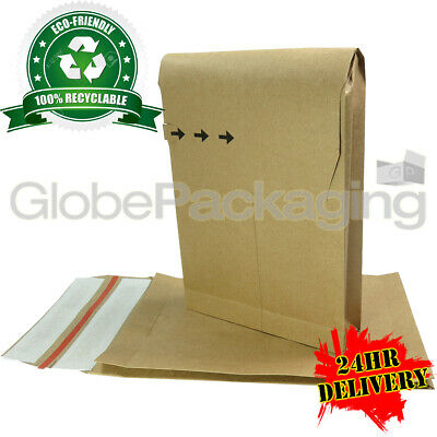 2000 x STRONG ECO-FRIENDLY KRAFT POSTAL PAPER MAILING BAGS 162x229x40mm (6x9x2