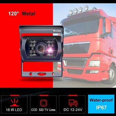 12-24V Car Bus Truck Rear View Camera IR LED REVERSING CAMERA Waterproof 520TVL