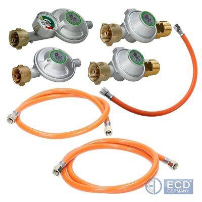 Druckminderer Gasregler 50mbar Propanschlauch 40/100/150 cm Gasschlauch Gasgrill