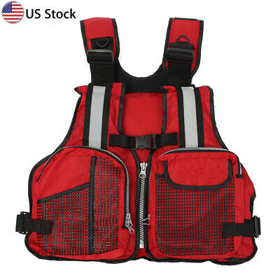 Polyester Adult Life Vest Jacket Swimming Boating Ski Drifting Life Vest with Wh