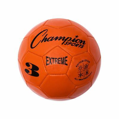 Champion Sports Extreme Soft Touch Butyl Bladder Soccer Ball, Size 3, Orange (Soft Soccer Ball)