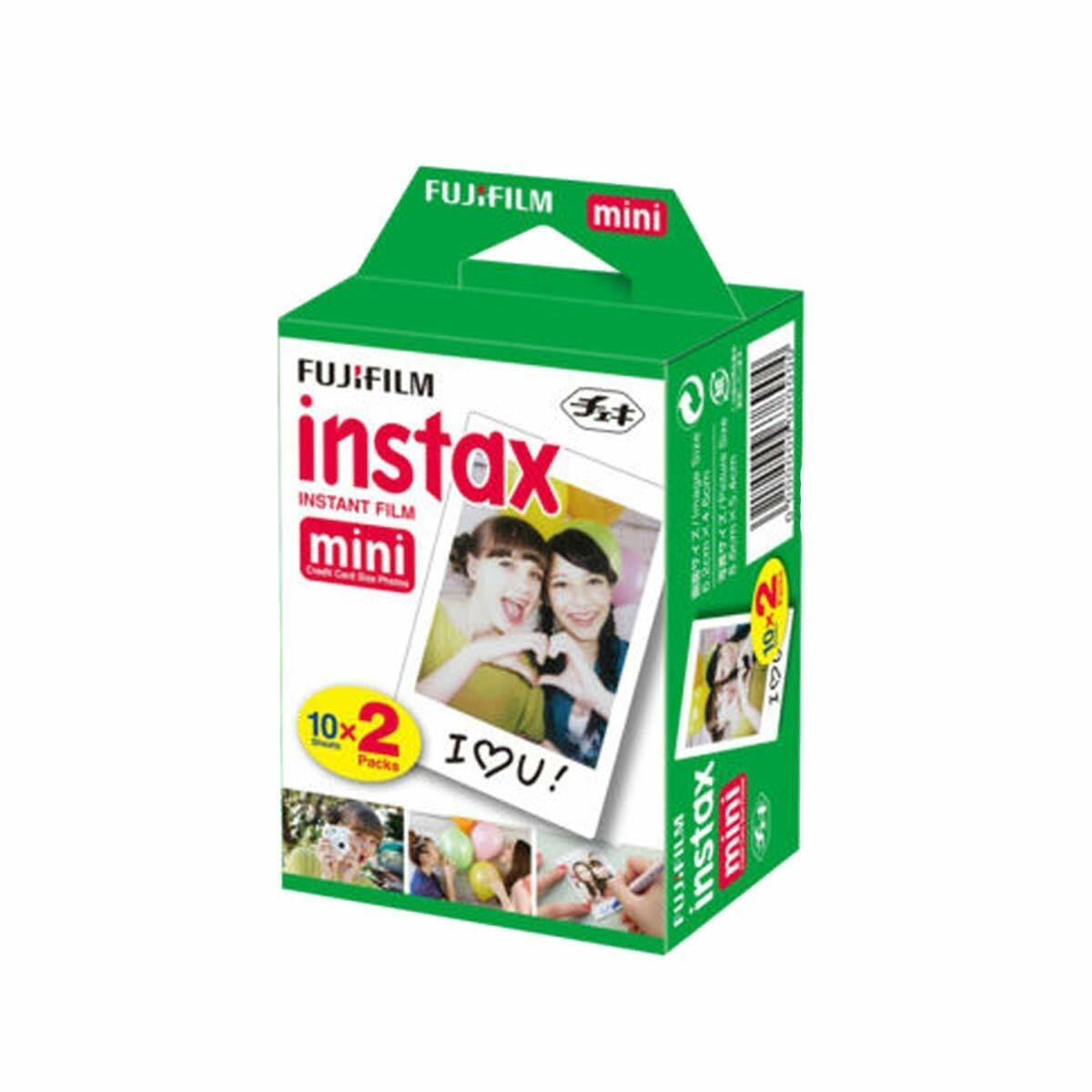 Fujifilm INSTAX Mini Instant Film 2 Pack = 20 Sheets  for Fu