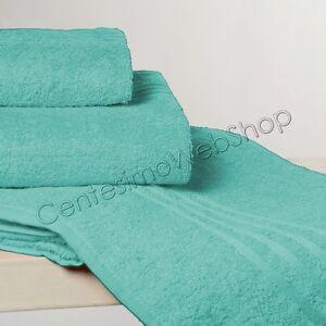 Spugna bagno puro cotone verde acqua 1 1 telo salvietta - Bagno verde acqua ...