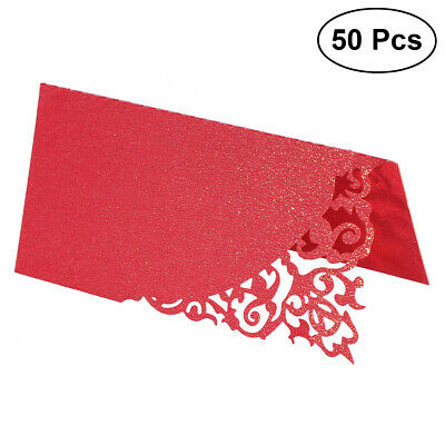 Flower Cut Name Place Card Table Decoration Small Tent Cards for Wedding Party
