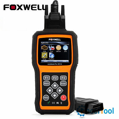 Engine Transmission ABS SRS Airbag EPB Oil Reset OBD2 Diagnostic Scanner Foxwell