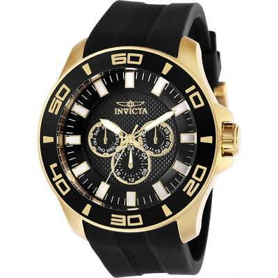 Invicta Men's Watch Pro Diver Chronograph Black Dial Rubber Strap 28001