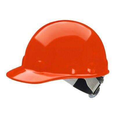 Fibre-metal Cap Style Hard Hat With Swingstrap Ratchet Suspension Orange