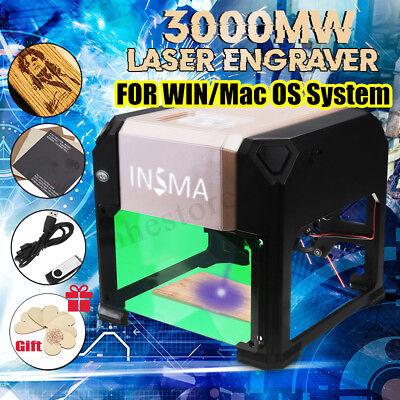 3000mw Usb Laser Engraving Cutting Machine Diy Logo Printer Cnc Engraver Gift