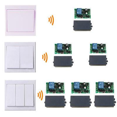 110V-220V Receiver Module Smart Lamp Light Switch+Remote Wall Panel Transmitter